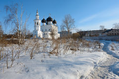 Nicola church in the episcopal settlement, Russia. Nicola church in the episcopal settlement — one of the oldest remained temples of the Vologda. The stone Stock Images