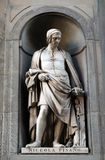 Nicola Pisano, statue in the Niches of the Uffizi Colonnade un Florence. Nicola Pisano, statue in the Niches of the Uffizi Colonnade. The first half of the 19th stock photography