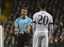 Nicola Rizzoli. Italian FIFA referee Nicola Rizzoli pictured during UEFA Europa League round of 16 game between Tottenham Hotspur and Borussia Dortmund on March stock image