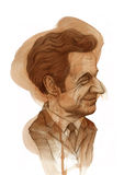 Nicola Sarkozy Caricature Royalty Free Stock Images