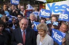 Nicola Sturgeon e Alex Salmond Scottish Indy Ref 2014 Immagini Stock