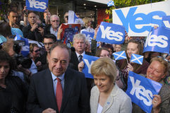 Nicola Sturgeon en Alex Salmond Scottish Indy Ref 2014 Stock Afbeeldingen