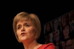 Nicola Sturgeon Portrait Foto de archivo libre de regalías