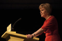 Nicola Sturgeon Portrait First Minister de l'Ecosse Photo libre de droits