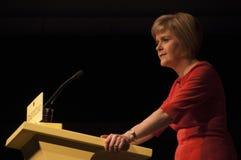 Nicola Sturgeon Portrait First Minister von Schottland lizenzfreies stockfoto