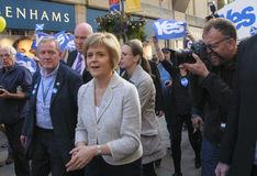 Nicola Sturgeon Scottish Indy Ref 2014 Stock Foto's