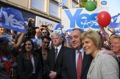 Nicola Sturgeon y Alex Salmond Indy Ref Foto de archivo libre de regalías
