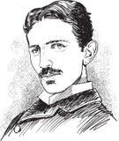 Nicola Tesla, scientifique célèbre Photographie stock libre de droits