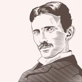 Nicola Tesla Vector Illustrations hand draw vector illustration