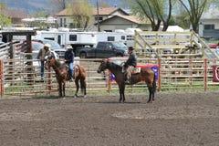 Nicola Valley Rodeo. MERRITT; B.C. CANADA - MAY 15: Cowboys at Nicola Valley Rodeo May 15; 2011 in Merritt British Columbia; Canada Royalty Free Stock Image