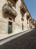 The nicolaci street noto syracuse sicily Italy europe Stock Image