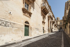 The nicolaci street noto syracuse sicily Italy europe Stock Photo
