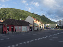 Nicolae Balcescu street in Brasov, Romania royalty free stock photo