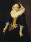 Nicolaes Eliasz. Pickenoy (1588−1650/56): Portrait of a 22-year-old woman / 22-vuotiaan naisen muotokuva / Porträtt a Stock Image