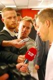 Nicolai Stokhoim donne une entrevue Photo libre de droits