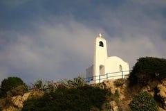 贴水Nicolaos教会, Rafina,希腊 免版税库存照片