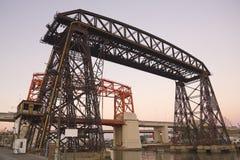 Nicolas Avellaneda Bridge, Buenos Aires stock photography