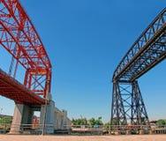 Nicolas Avellaneda Bridge stock image