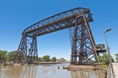 Nicolas Avellaneda stali most przez Riachuelo zdjęcia royalty free