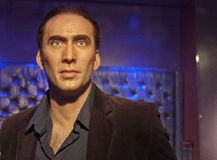 Nicolas Cage. Wax statue of Nicolas Cage at the Madame Tussauds museum in Los Angeles, CA Royalty Free Stock Image