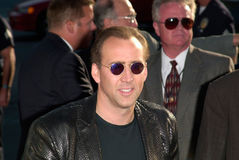 Nicolas Cage. Actor NICOLAS CAGE at the world premiere, in Westwood, of his new movie Gone In 60 Seconds Royalty Free Stock Images