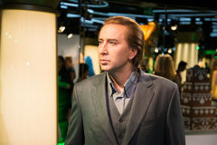 Nicolas Cage in Grevin museum of the wax figures in Prague. Stock Photography