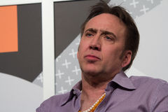 Nicolas Cage på SXSW 2014 royaltyfri fotografi