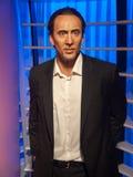 Nicolas Cage vaxar statyn Arkivfoto