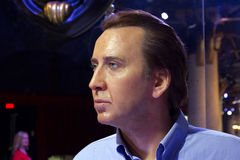 Nicolas Cage. Wax statue at the Grévin museum in Montréal Royalty Free Stock Image