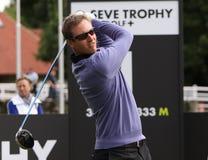 Nicolas Colsaerts bij de Seve-Trofee 2013 Royalty-vrije Stock Afbeeldingen