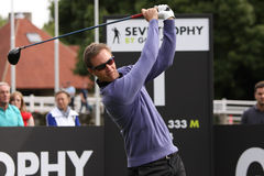 Nicolas Colsaerts at the Seve Trophy 2013 Royalty Free Stock Images