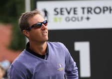 Nicolas Colsaerts at the Seve Trophy 2013 Royalty Free Stock Photos