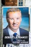 Nicolas Dupont-Aignan, campagne électorale présidentielle française PO Photo stock