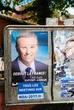 Nicolas Dupont-Aignan, campagne électorale présidentielle française PO Image libre de droits