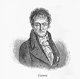 Nicolas Léonard Sadi Carnot, engraving portrait Royalty Free Stock Photos