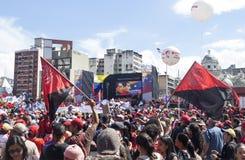 Nicolas Maduro die als Kandidaat voor Presidentsverkiezing in Venezuela registreren stock foto