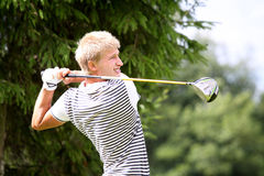 Nicolas Murtagh at the golf Prevens Trpohee 2009 Royalty Free Stock Photo