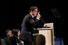 Nicolas Sarkozy. President of France Nicolas Sarkozy, speaking at COP15, Climate Change Conference in Copenhagen, Denmark Stock Photo