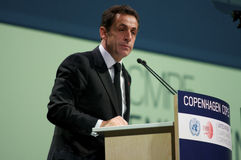 Nicolas Sarkozy Royalty Free Stock Photo