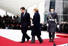 Nicolas Sarkozy, Angela Merkel Royalty Free Stock Photos