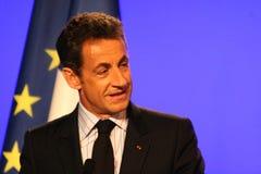 Nicolas Sarkozy de presidente francés Foto de archivo