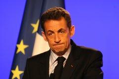 Nicolas Sarkozy des französischen Präsident Stockbild