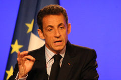 Nicolas Sarkozy do presidente francês Foto de Stock Royalty Free