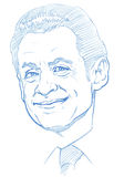 Nicolas Sarkozy portrait - Pencil Version Stock Images