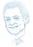 Nicolas Sarkozy portrait - Pencil Version stock images
