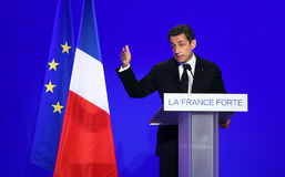 Nicolas Sarkozy van de Franse voorzitter Royalty-vrije Stock Foto