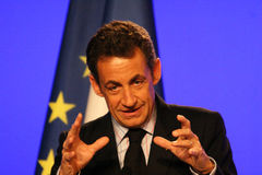 Nicolas Sarkozy van Franse President Stock Foto