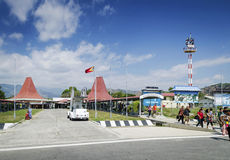 Nicolau lobito international airport in dili east timor Stock Image
