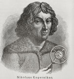 Nicolaus Copernicus. (1473-1543) was a Polish Renaissance astronomer and the first person to formulate a comprehensive heliocentric cosmology which displaced Royalty Free Stock Images