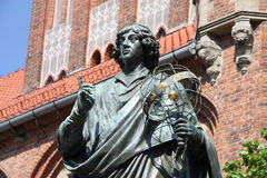 Nicolaus Copernicus. Statue in Torun, Poland. Copernicus was a Renaissance astronomer and the first person to formulate a comprehensive heliocentric cosmology Stock Photo